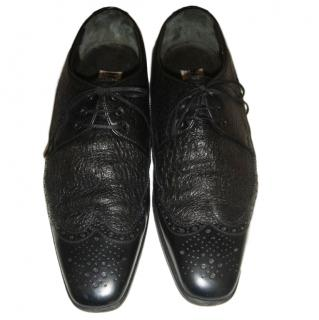Moreschi Men's Black Leather Brogues