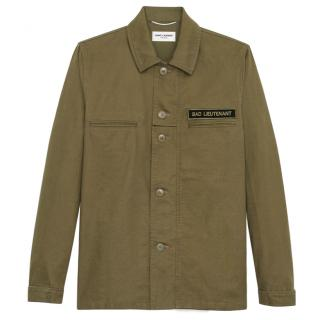 Saint Laurent Men's Khaki Bad Lieutenant Shirt