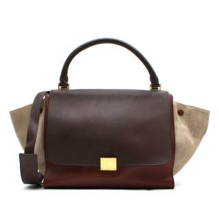 Celine Tricolour Leather & Canvas Trapeze Bag