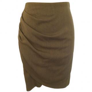 Emporio Armani Asymmetric Ruffled Skirt