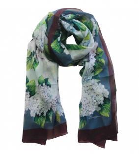Dolce & Gabbana Hydrangea print silk wrap scarf