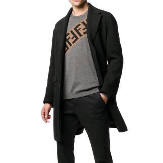 Fendi Grey FF Logo Knit Sweater - New Season