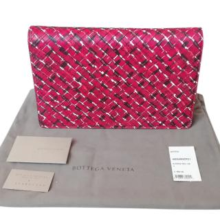 Bottega Veneta Painterly Intrecciato Flap Clutch