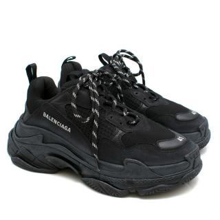 Balenciaga Mesh Triple S Low-Top Sneakers