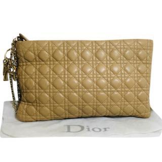 Dior Beige Cannage Leather Clutch