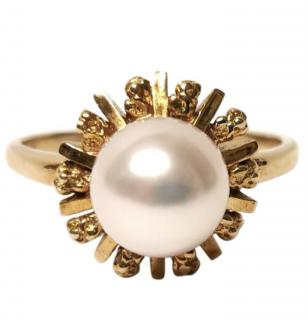 Mikimoto Vintage Saltwater Starburst Pearl Ring