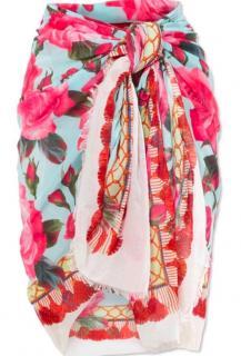 Dolce & Gabbana Rose Print Wrap Scarf