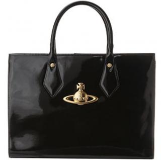 Vivienne Westwood Apollo Shoulder Bag in Black Patent