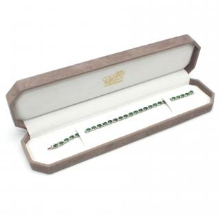 Colombian 14ct Gold 9.31ct Emerald & 0.25ct Diamond Tennis Bracelet