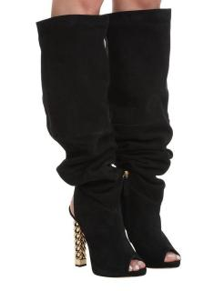 Giuseppe Zanotti x Rita Ora Suede Long Open Toe Boots