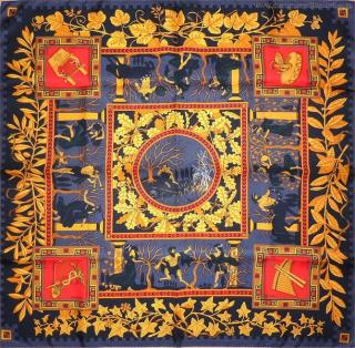 Hermes collector's MUSIQUE des Dieux Music of the Gods scarf