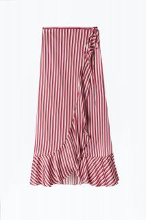 Rixo Gracie Two Stripe Midi Wrap Skirt
