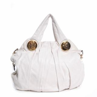 Gucci White Leather Hysteria Top Handle Tote