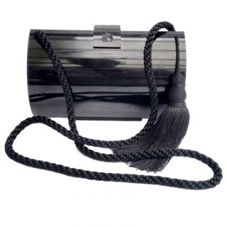 Lanvin Vintage Black Perspex Rope Strap Shoulder bag