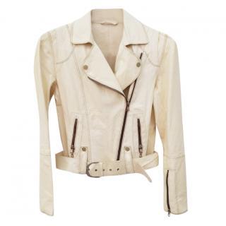 Sylvie Schimmel Cream Lambskin Jacket