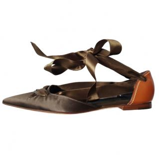 Yves Saint Laurent Leather & Satin Vintage Pumps