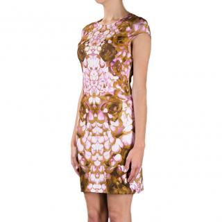 McQ Floral Print Cap Sleeve Dress