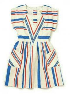 Lauren Moffatt Striped Mini Dress