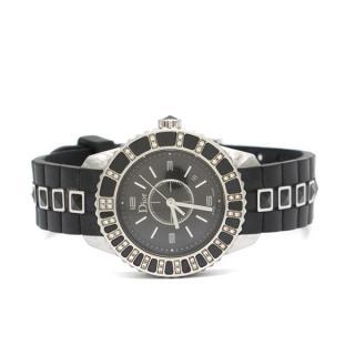 Dior Christal 0.30ct Diamond & Sapphire Stainless Steel Watch