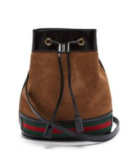 Gucci Ophidia suede bucket bag