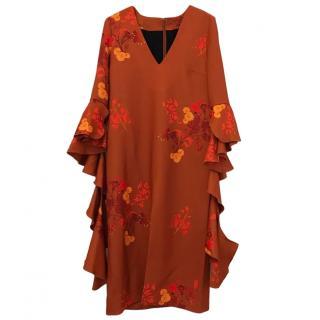 Ellery Reuben Frill Sleeve Dress