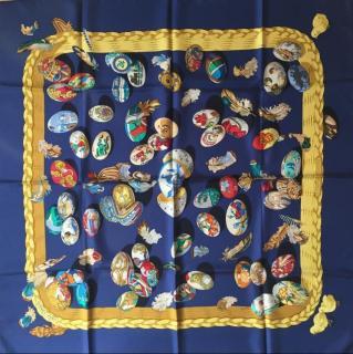Hermes Cuvee Dhermes Silk Scarf 90