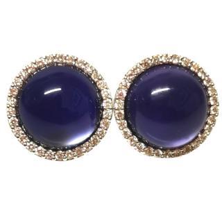 Roberto Coin Amethyst & Diamond Earrings