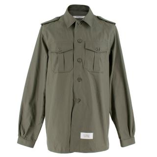 Givenchy Army Green Military Shirt