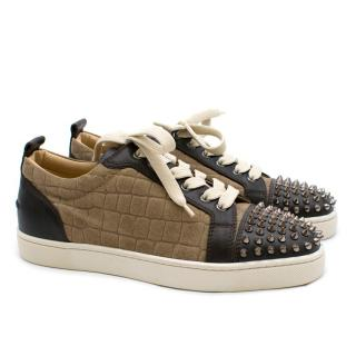 Christian Louboutin Louis Junior Spikes Suede trainers