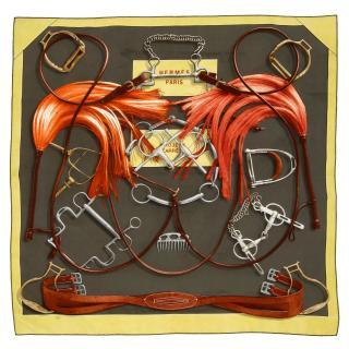 Hermes Projets Carres Silk Scarf 90