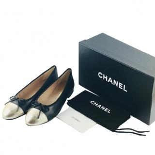 Chanel Two-Tone Ballerina Flats