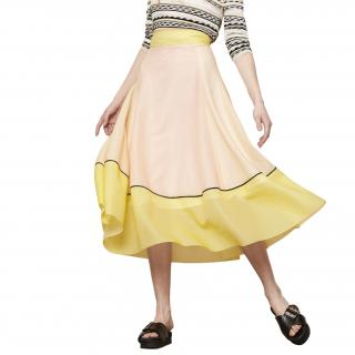 Maje Johana Honeycomb knit long skirt