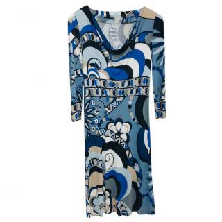 Emilio Pucci Blue Printed Dress