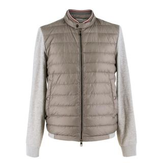 Moncler contrast-panel quilted down jacket