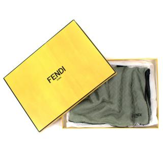 Fendi Green Monogram Ombre Shawl