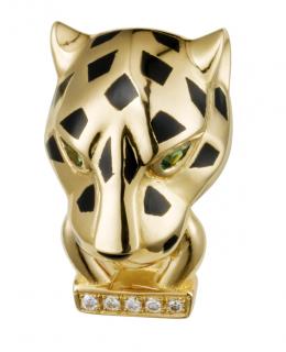 Panth�re de Cartier Diamond, Garnet & Onyx 18k Gold Single Earring