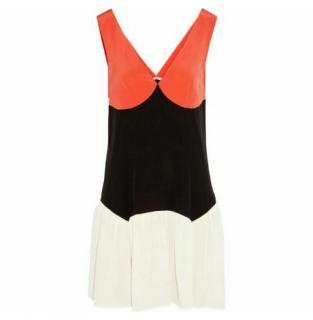 Miu Miu Silk Colourblock Dress