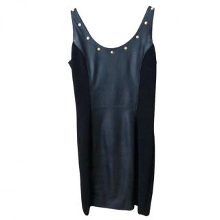 Versus Versace leather panelled studded dress
