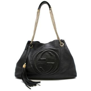 Gucci Black Leather Soho Shopper Bag