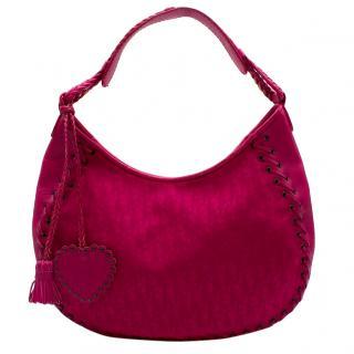 Dior Heart Charm Hobo Bag in Hot Pink