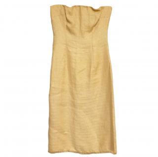 Dolce & Gabbana silk tabacco corset silk dress