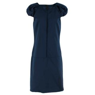 Burberry Prorsum Dark Blue Puff Sleeve Dress