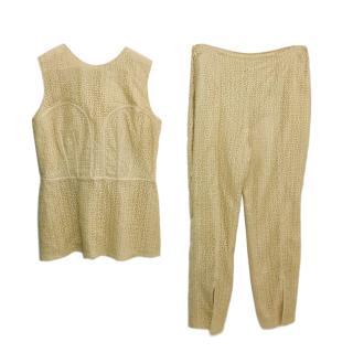 Alexander McQueen Crochet Top & Trousers