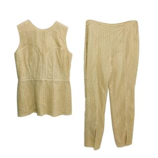 Alexander McQueen Crochet Top & Trousers