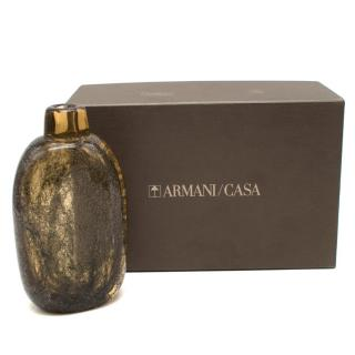Armani Casa Decorative Brown Glass Bottle Vase