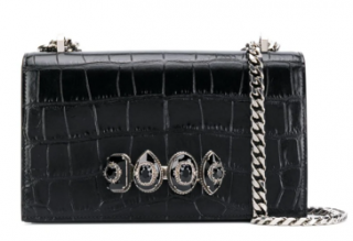 Alexander McQueen jewel handle cross-body bag
