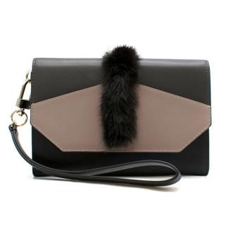 Oh! By Kopenhagen Fur Leather Flap Wallet