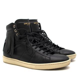 Saint Laurent Fringed Black SL/18H High Top Sneakers