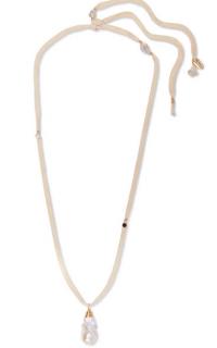 Albus Lumen Baroque pearl & silk necklace