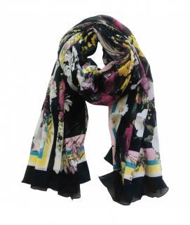Dolce & Gabbana Silk Floral Print Wrap Scarf